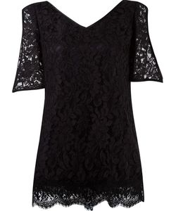 MARTHA MEDEIROS | V-Neck Lace Blouse