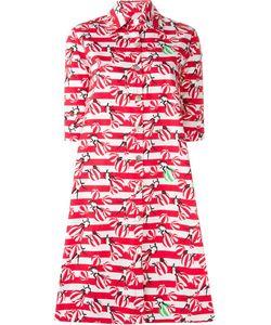 Ultra Chic | Расклешенное Полосатое Платье-Рубашка