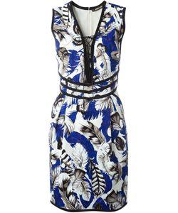 Roberto Cavalli | Платье Plumage Со Шнуровкой