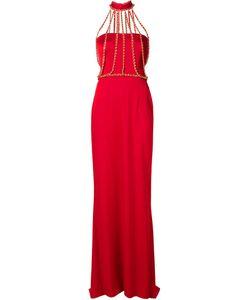 Moschino | Вечернее Платье С Цепочной Отделкой