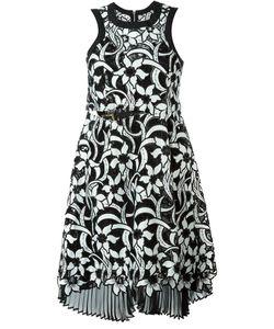 Sacai | Платье С Цветочной Вышивкой