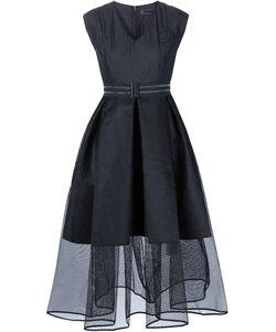 XIAO LI | Tulle Skirt V-Neck Dress
