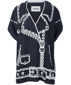 XIAO LI | V-Neck Printed Blouse