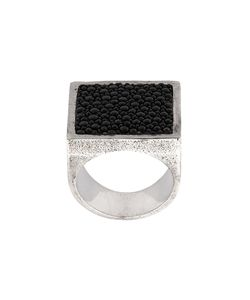 HENSON | Square Stingray Inlay Ring