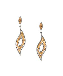 GEMCO | Diamond And Sapphire Drop Earrings