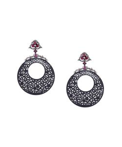 GEMCO | Ruby Carved Hoop Earrings