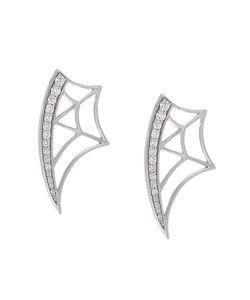 Eshvi | Diamond Web Earrings