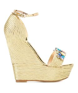 GIANNI RENZI | Embellished Wedged Sandals