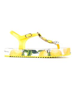 Dolce & Gabbana | Embellished Lemon Sandals