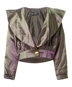 Emanuel Ungaro Vintage | Укороченная Куртка С Эффектом Металлик