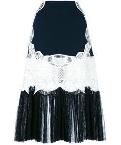 Jonathan Simkhai   Lace Panel Pleated Skirt 6 Spandex/Elastane/Acetate/Viscose/Polyamide