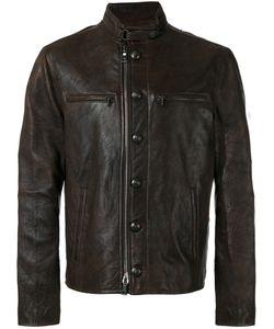 John Varvatos   Button-Down Leather Jacket Size 50