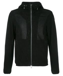 Emporio Armani | Perforated Hooded Jacket Xl Polyester/Goat Suede