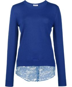 Altuzarra | Lace Hem Sweater Small Cotton/Polyamide/Merino