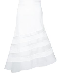 ROBERT WUN | Sheer Panel Skirt