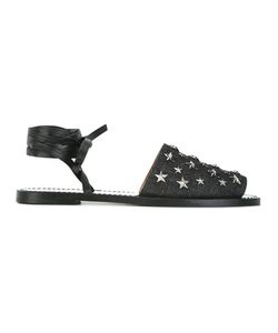 Red Valentino | Star Studded Sandals 35.5 Leather/Cotton/Metal