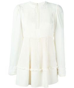 Valentino | Плиссированная Расклешенная Блузка