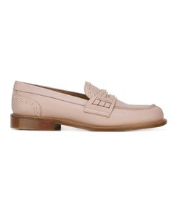 Red Valentino | Stud Detail Loafer Shoes 36 Calf