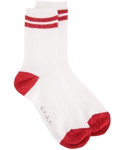 G.V.G.V.   Glitter Varsity Socks Polyester/Polyurethane