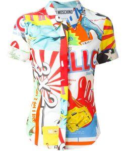 Moschino | Рубашка С Комбинированным Принтом