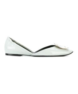 Roger Vivier | Square Plaque Ballerinas Size 36 Leather/Metal Other