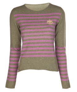 Lucien Pellat-Finet | Prep Stripe Embroidered Sweater