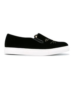 Charlotte Olympia   Cool Cats Slip-On Sneakers Size 38