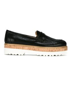 Hogan | Platform Loafers 35 Cork/Leather/Rubber