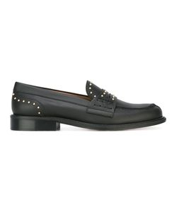 Red Valentino | Studded Loafers 37 Leather/Metal