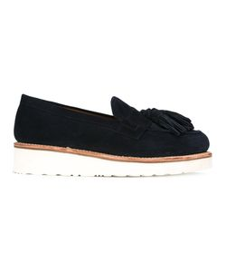 Grenson | Tassel Platform Loafers 36 Leather/Rubber/Calf Suede