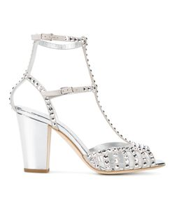 Giuseppe Zanotti Design | Studded Caged Sandals 41 Leather/Suede