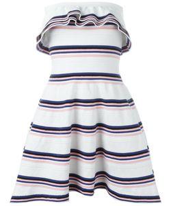 MSGM | Полосатое Платье С Оборками