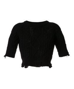 Maison Mihara Yasuhiro | Distressed Cable Knit Jumper Women