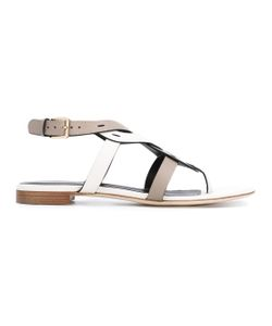 Sergio Rossi | Woven Thong Sandals