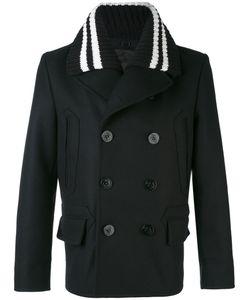 Givenchy   Укороченное Пальто С Трикотажным Воротником