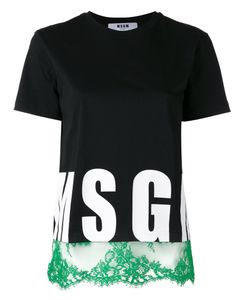 MSGM | Logo Printed T-Shirt Dress