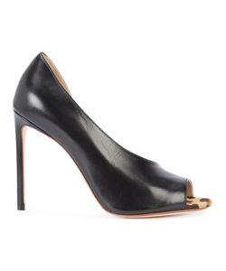 FRANCESCO RUSSO | Twisted Cut Stiletto Pumps 40.5 Leather/Calf