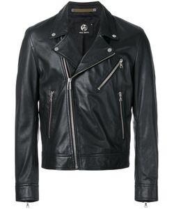 PAUL SMITH LONDON | -Pocket Biker Jacket Small Viscose/Leather