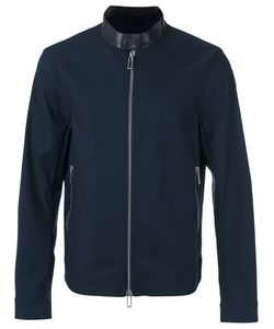 Emporio Armani | Contrast Collar Zip Jacket Size Medium Cotton/Lamb