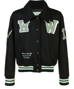 OFF-WHITE | Printed Bomber Jacket Large Wool/Polyamide