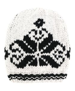 ANTONIA ZANDER | Knit Hat With Embroidered Print Women