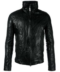 Isaac Sellam Experience | Zipped Leather Jacket Men Cotton/Feather