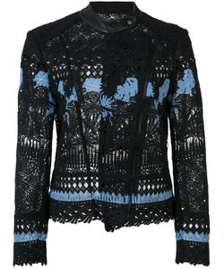 Yigal Azrouel | Embroidered Biker Jacket Size