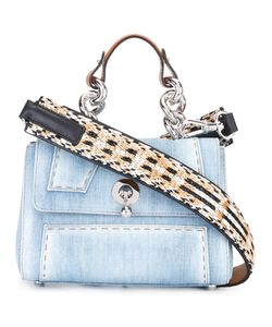 Ermanno Scervino | Denim Shoulder Bag Cotton/Straw/Leather/Straw