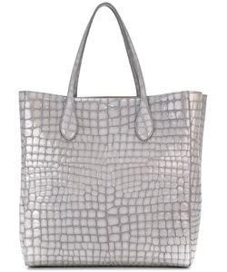 Rochas | Crocodile Effect Shopper Goat Skin