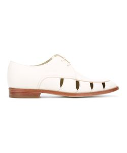 Paul Smith | Cut-Out Lace-Up Shoes 38 Goat Skin/Leather/Rubber
