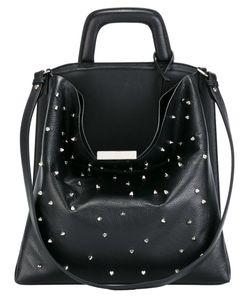 LANDI | Top Handle Studded Shoulder Bag Leather