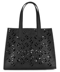 Kenzo | Laser Cut Tote Bag Cotton/Polyamide/Polyurethane/Calf Leather