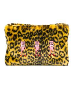SHRIMPS | Leopard Print Faux Fur Clutch Women