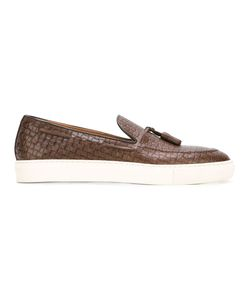 Doucal's | Woven Boat Shoes 43 Leather/Rubber